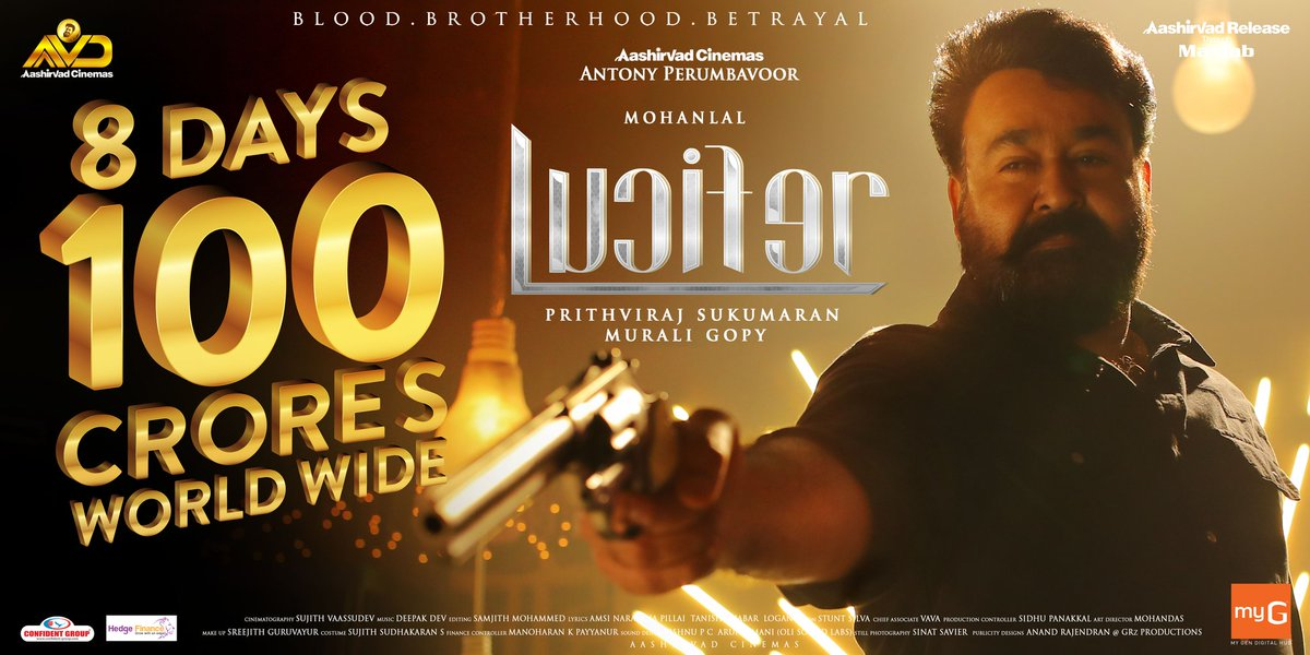 Lucifer Enters 100 Crs Like a Boss-2nd 100Cr For MohanLal