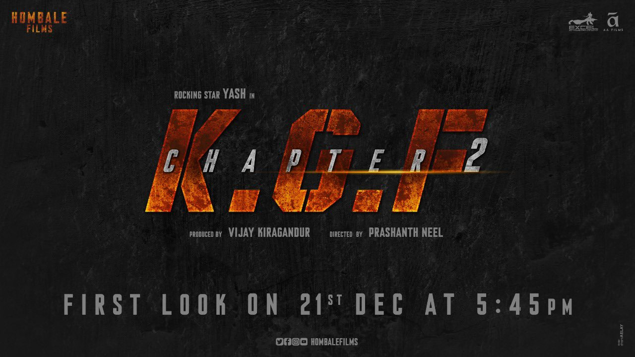 KGF 2 Treat on KGF First Anniversary