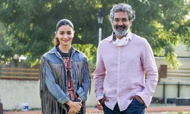 Rajamouli Finishing Heroines' Work for RRR