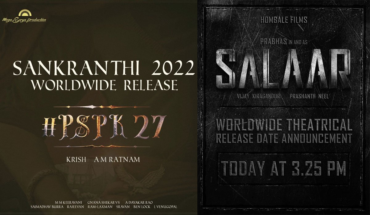 Pawan Kalyan and Prabhas Announce Arrival in 2022