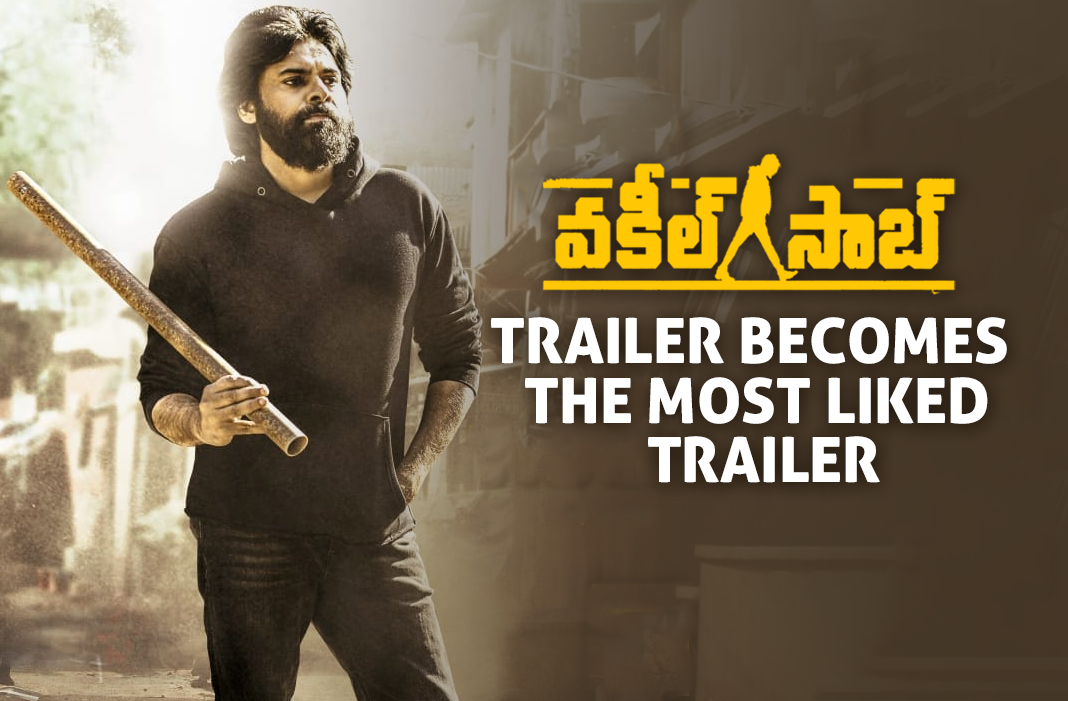 Vakeel Saab Trailer is TFI's Most-Liked Video