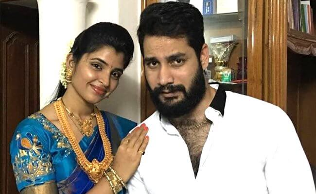 Anchor Shyamala's Husband Arrested