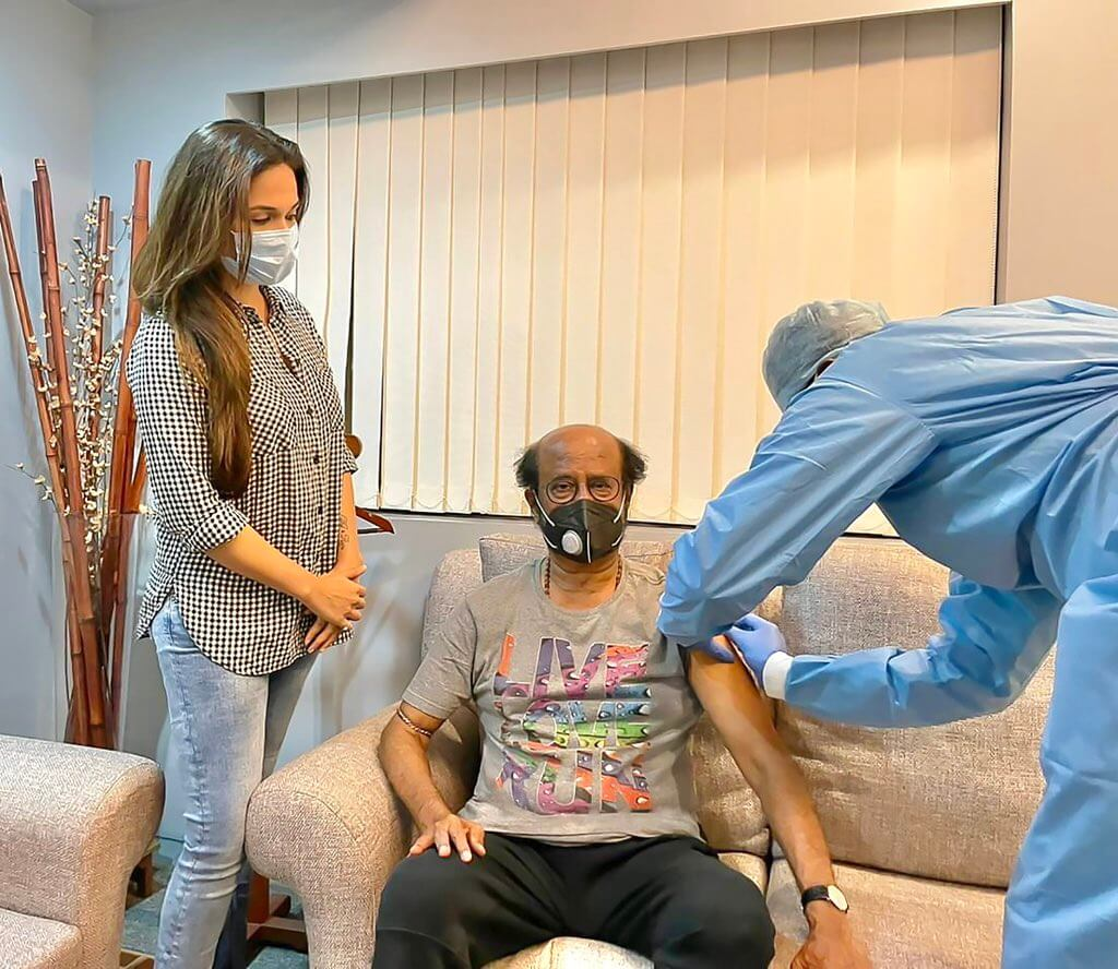 Rajinikanth Is Now Completely Vaccinated
