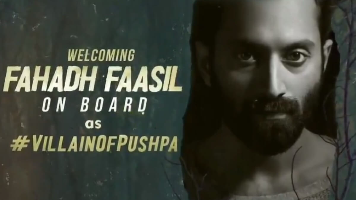 Fahadh Faasil to join Pushpa in August first week