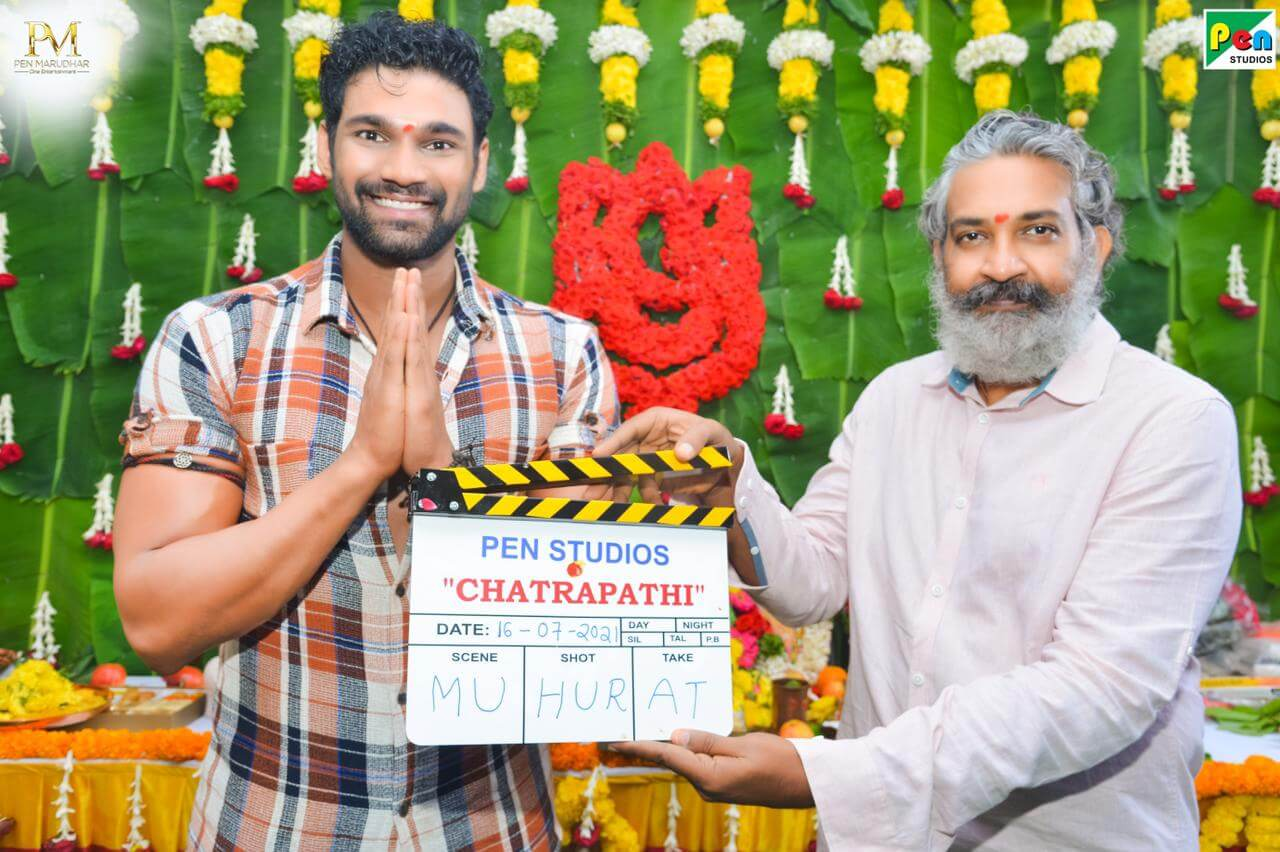 Rajamaouli blesses the team of Chatrapathi remake